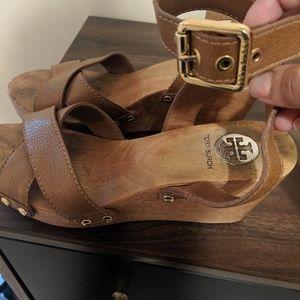 Tort Burch wedge sandals